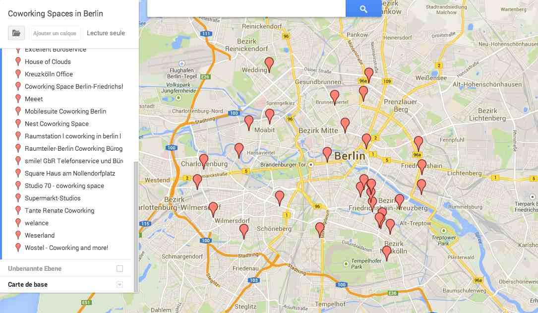 Coworking Map Berlin
